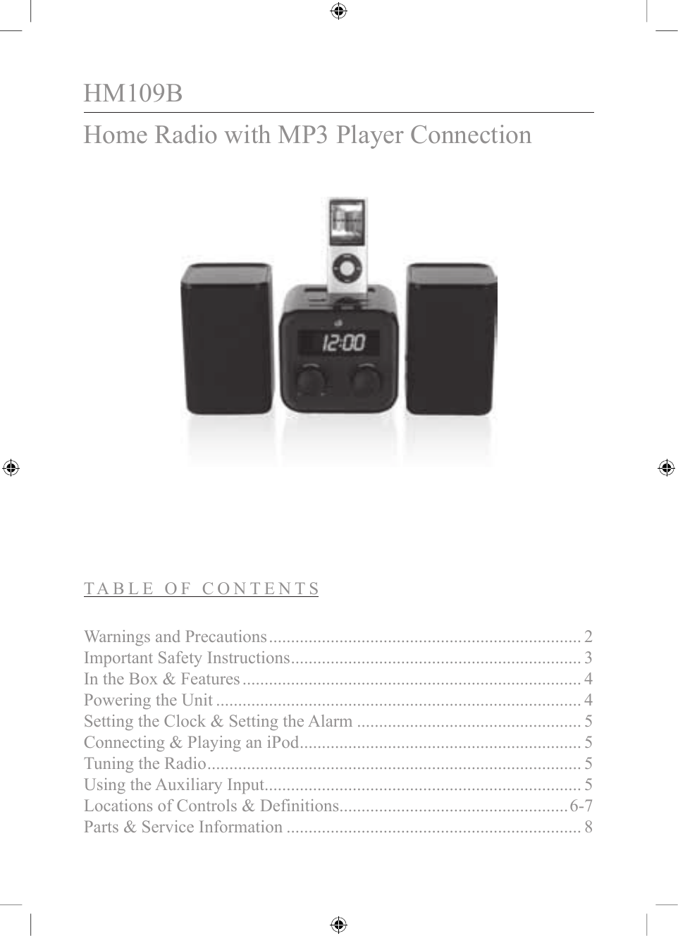 Gpx Hm109b Users Manual Home Images Mp3 Player Circuit Diagram