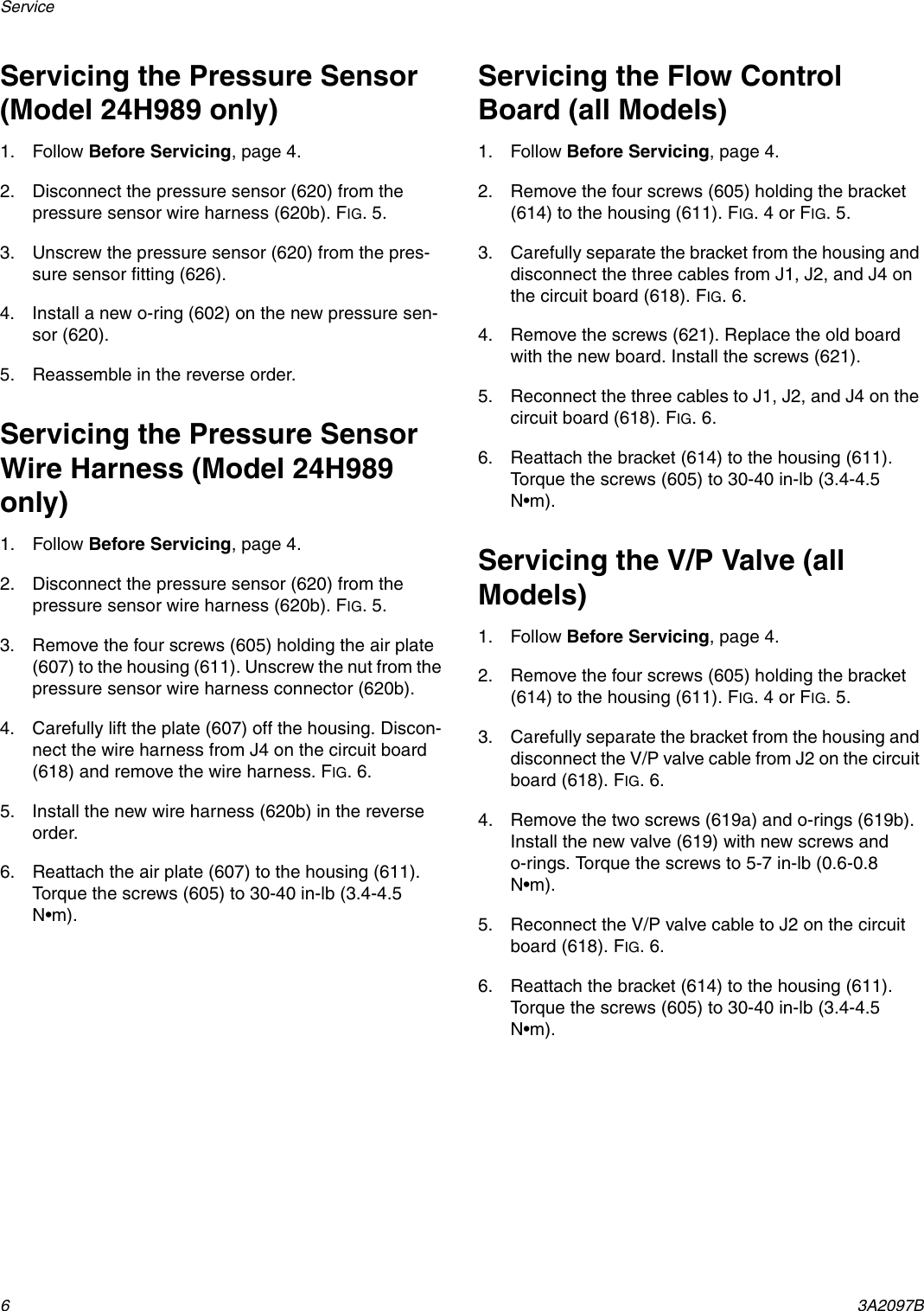Graco 3a2097b Instructions Parts Manual For Flow Control Circuit Board Wire Harness Page 6 Of 12