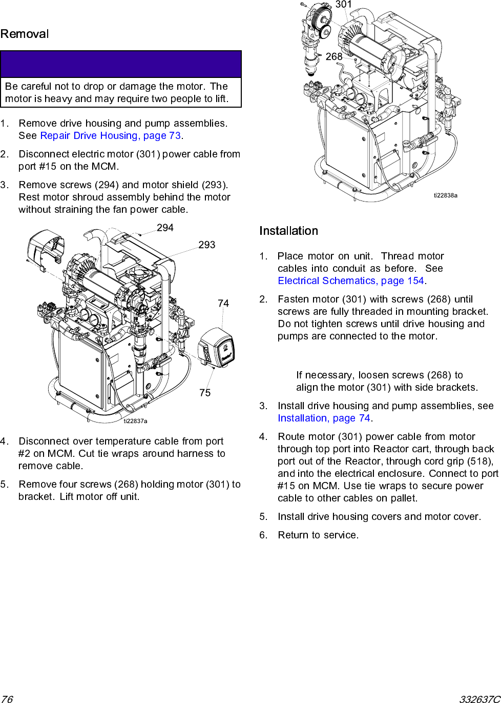 Graco 332637c Reactor 2 Elite Integrated Proportioning System Users Disconnect Electrical Motor Connection Diagram Repair Electric
