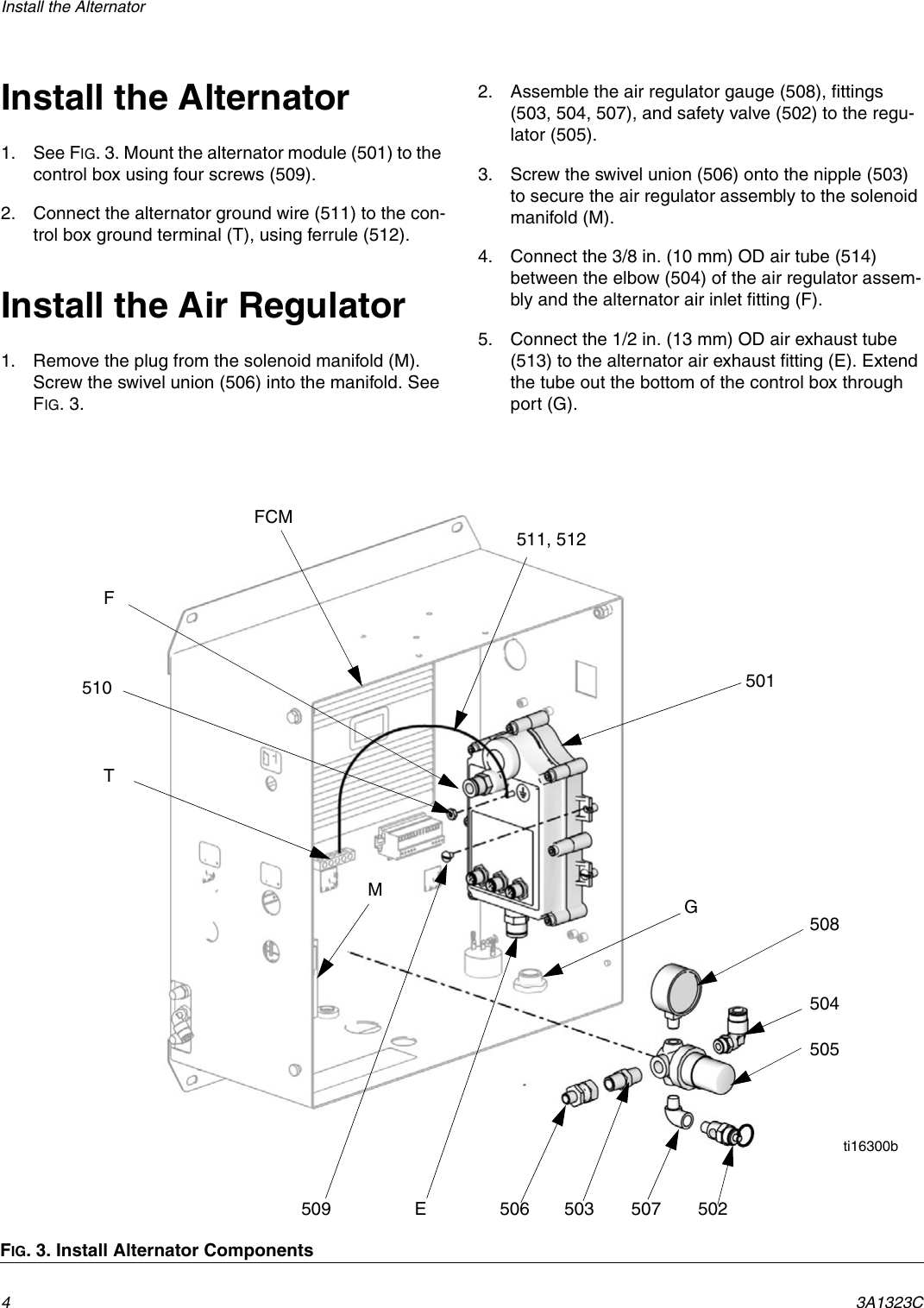 Graco 3a1323c Promix 2ke Alternator Power Conversion Kit Users Wiring Diagram Page 4 Of 6