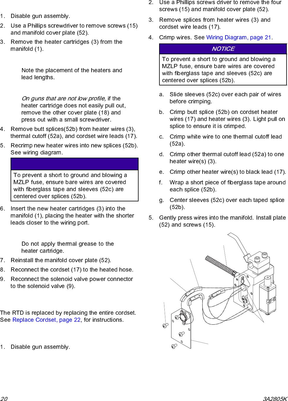 Graco 3a2805k Invisipac Gs35 Users Manual Plug Free Hot Melt Cartridge Heater Wiring Diagram Repair Replace