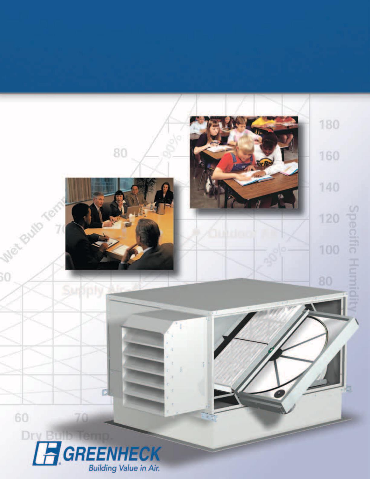 Greenheck Fan Energy Recovery Ventilator Erv Users Manual