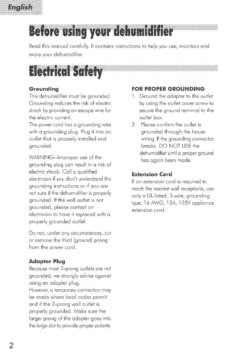 HAIER Dehumidifier Manual L0523057