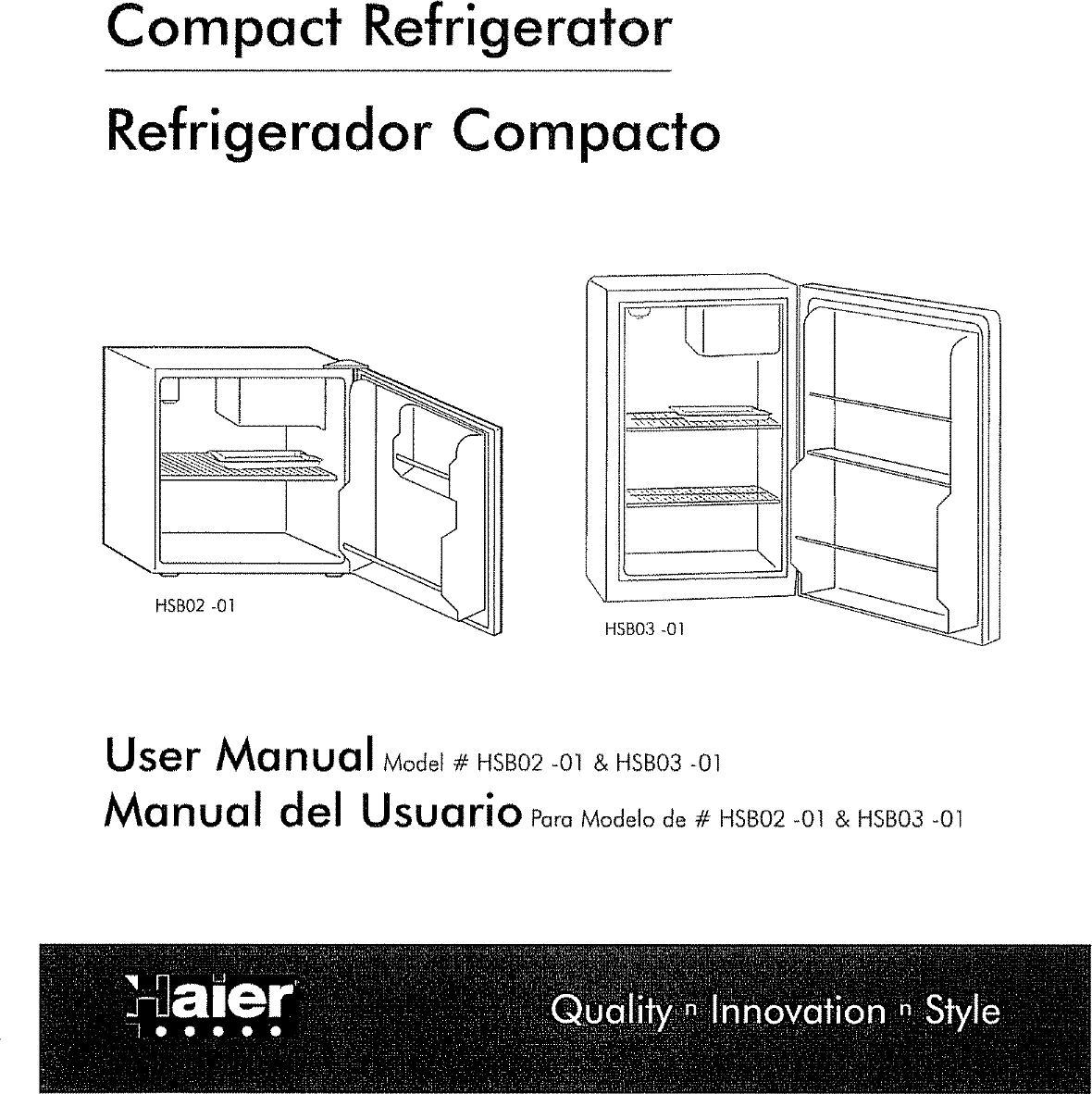 HAIER Refrigerator Compact Manual L0704323 on