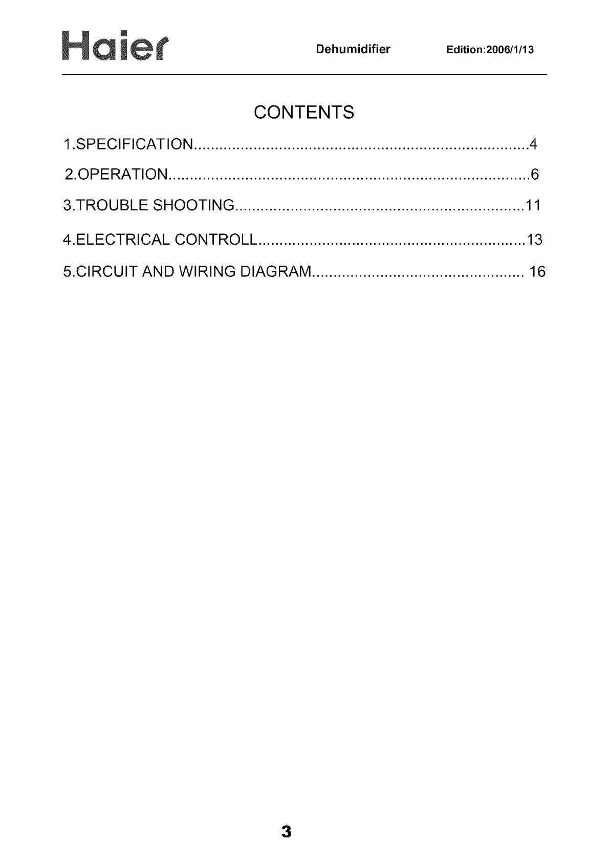 dehumidifier edition:2006/1/13