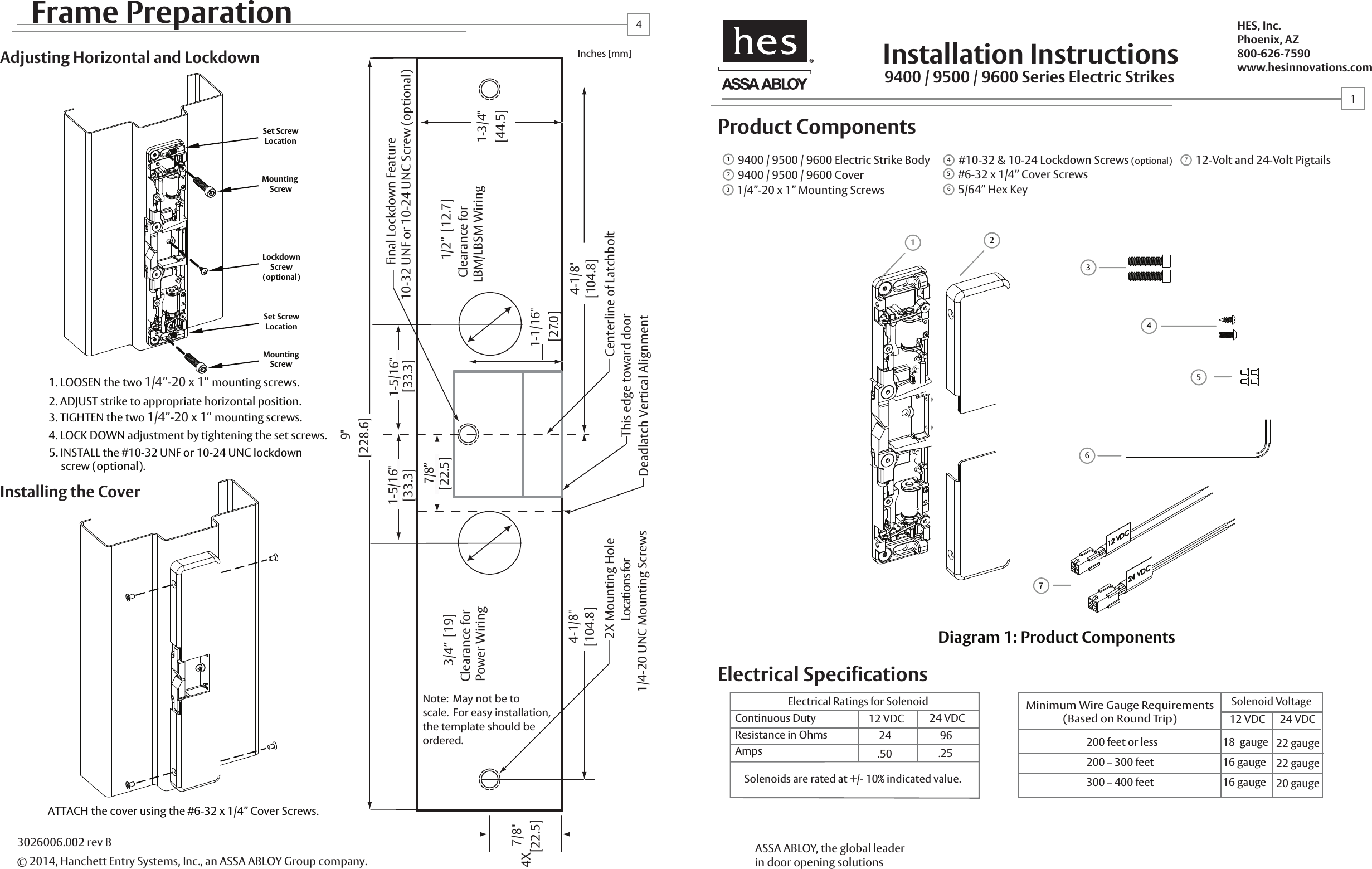 Hes 9600 Electric Strike Wiring Diagram