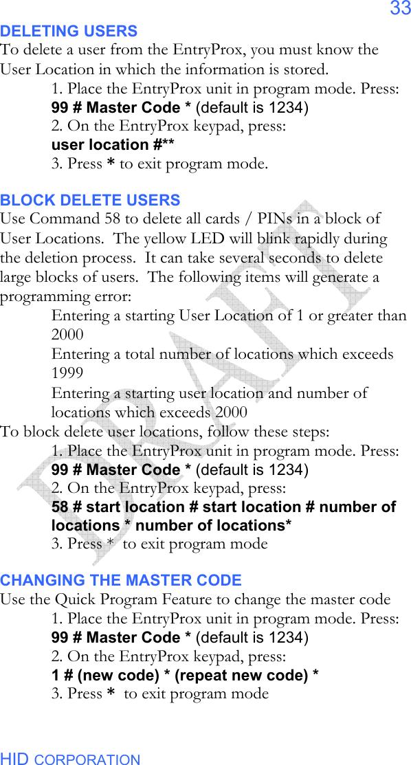 HID Global 4045 4045C Entry Prox User Manual 555249