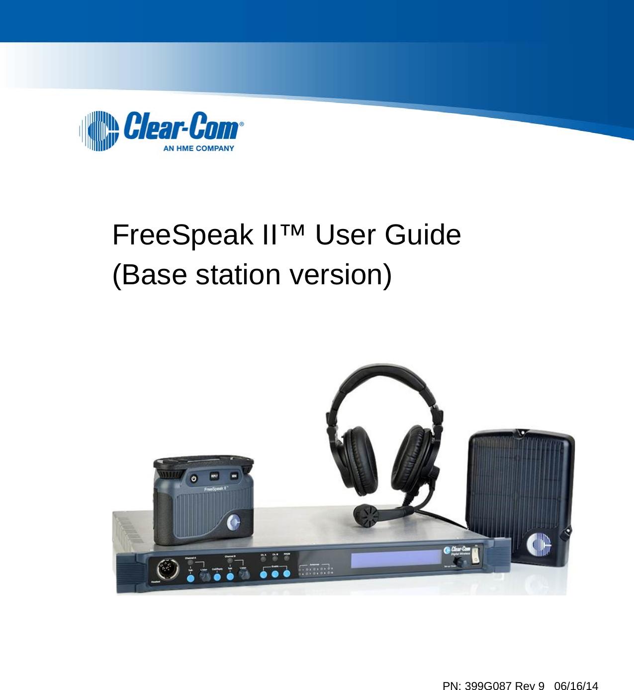 Hm Electronics Bp1g9 Wireless Intercom System User Manual Concert Client Wiring Guide Freespeak Ii Base Station Version Pn 399g087 Rev 9 06