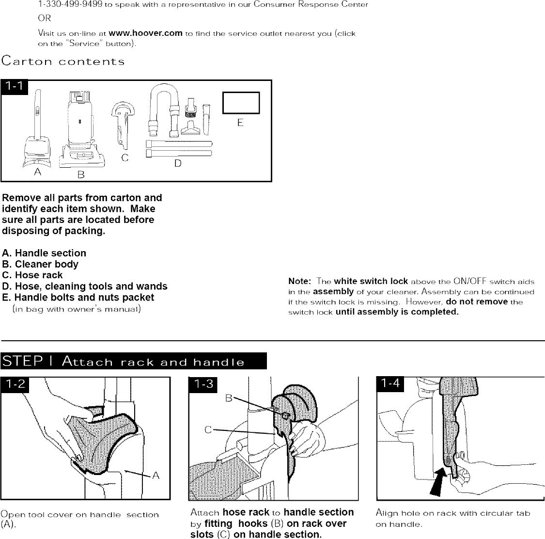 HOOVER Vacuum, Upright Manual L0504375