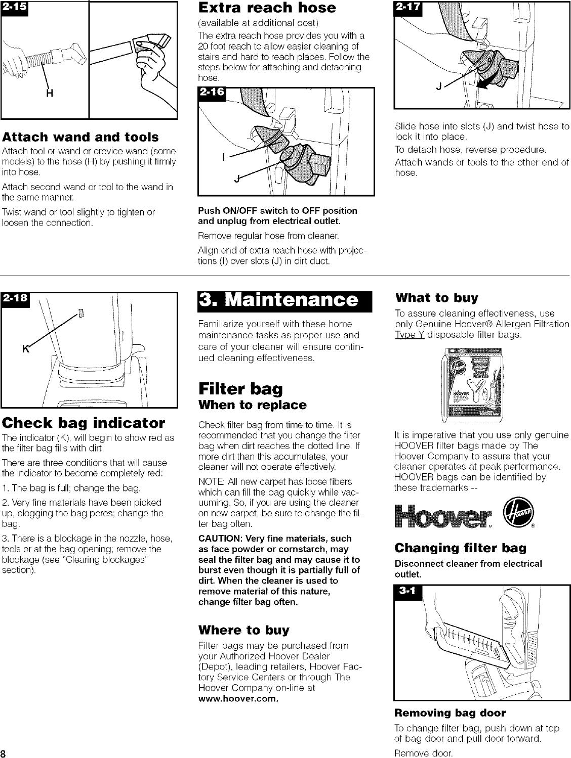 HOOVER Vacuum, Upright Manual L0504481