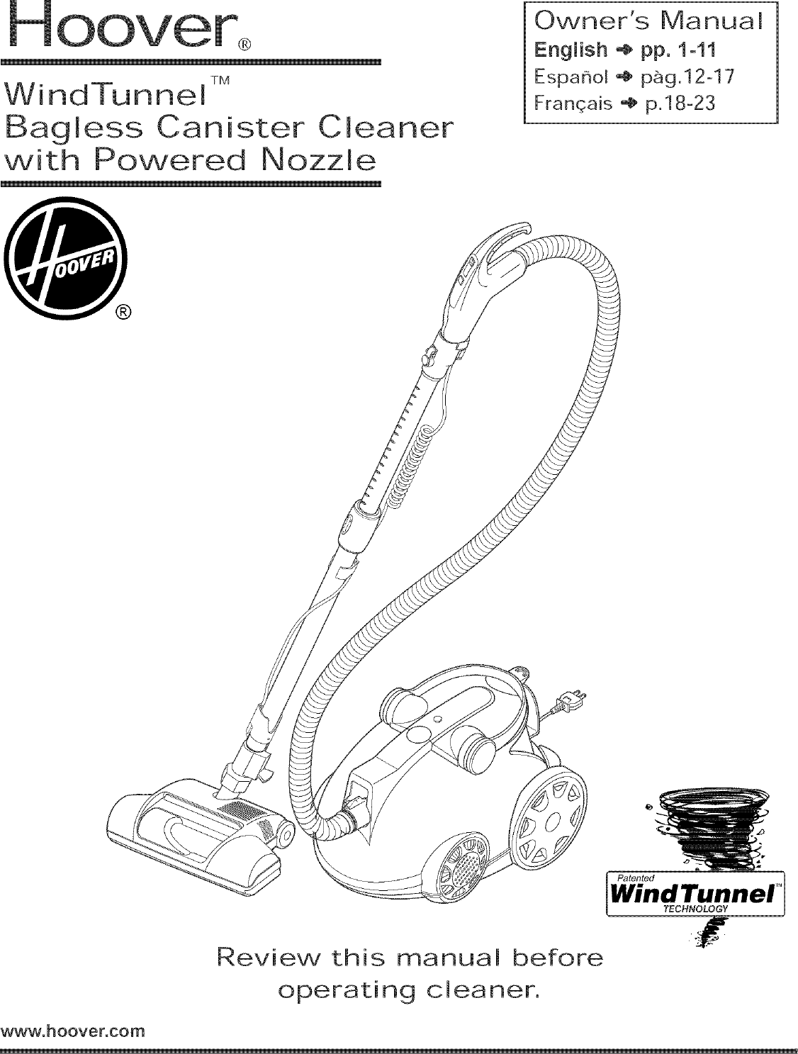 Hoover Vacuum Canister Manual L0521314 Wiring Diagram