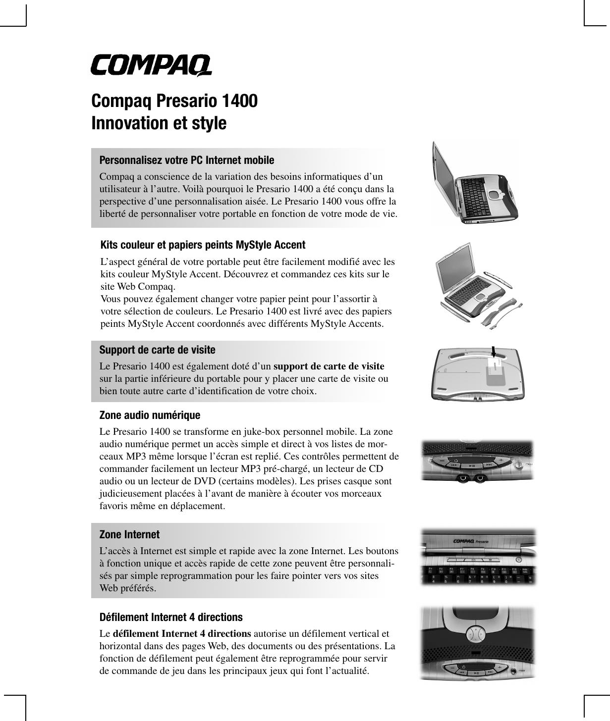 2 Papiers Peints Différents hp 203412 051.p65 compaq presario 1400 innovation et style
