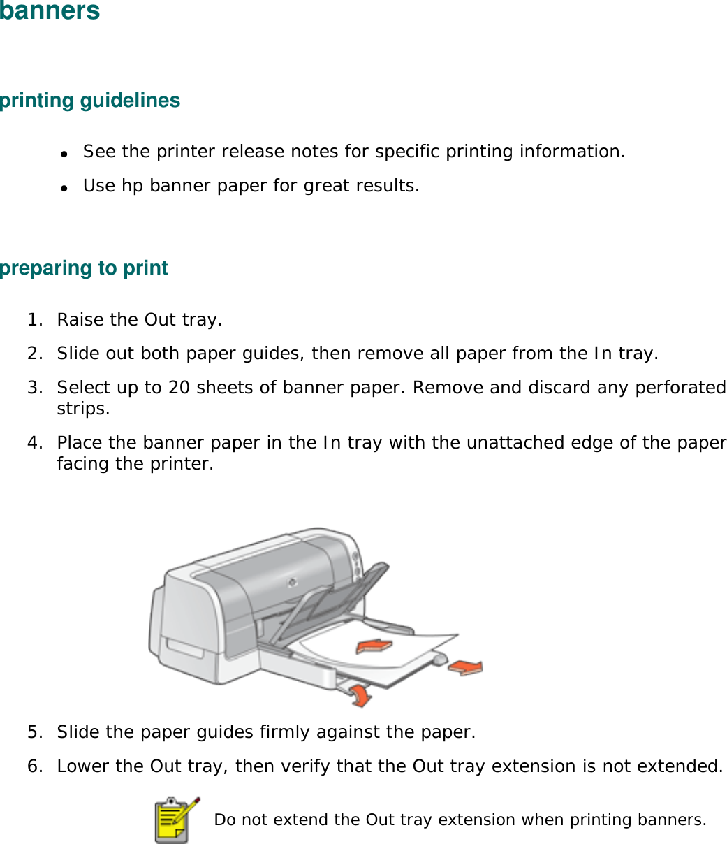 HP User's Guide Table Of Contents Deskjet 6120 Series