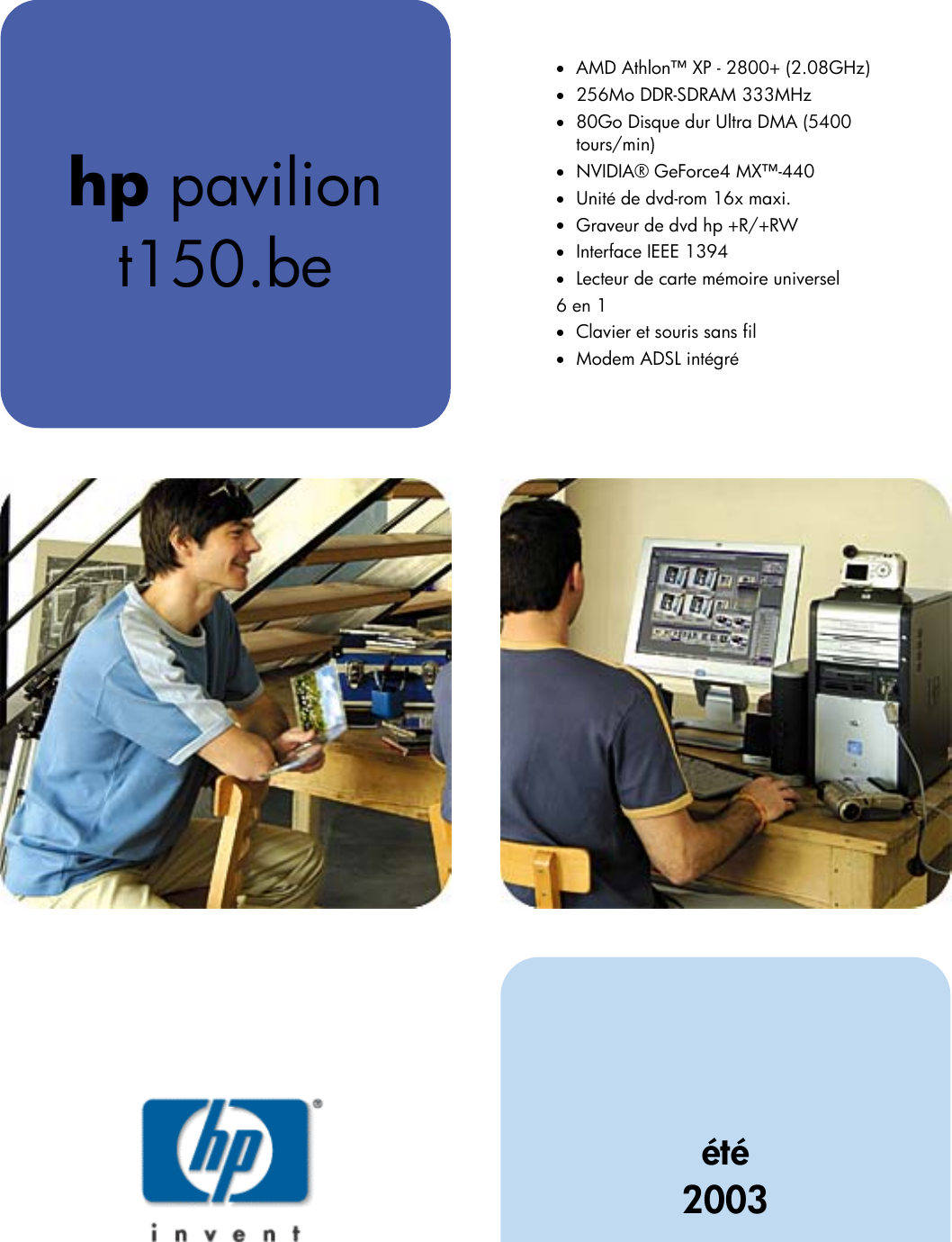 HP T150.be_ds_fre Pavilion Desktop PC (French) T150.be Product Datasheet  And Specifications Bph08291