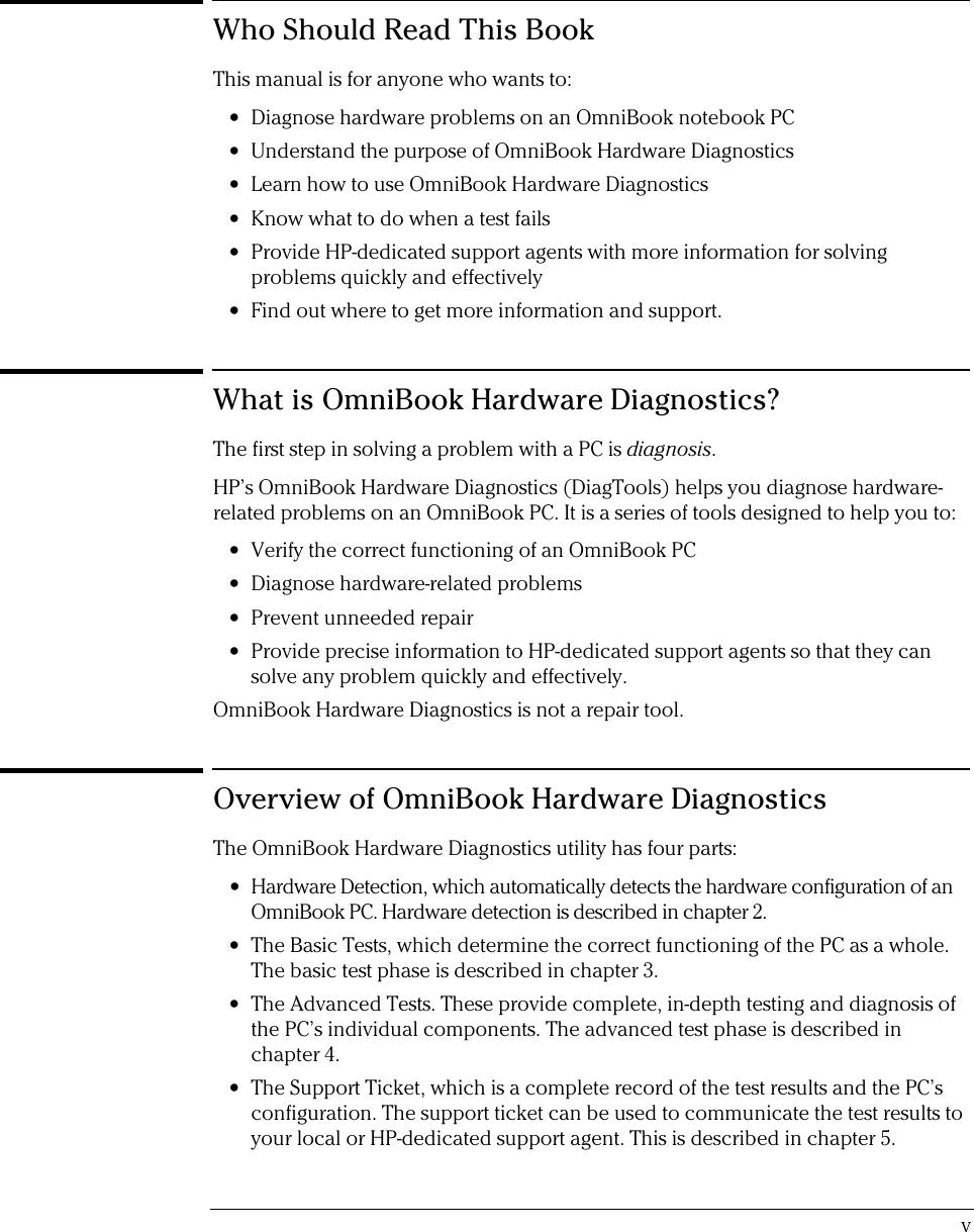 HP User1_e2 Omni Book Hardware Diagnostics User Guide Bpi03819