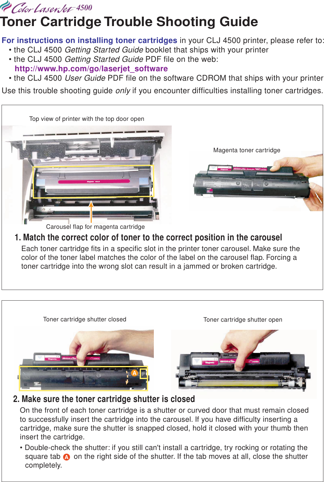 HP Color Laser Jet 4500, 4500 N, DN Printer Toner Cartridge
