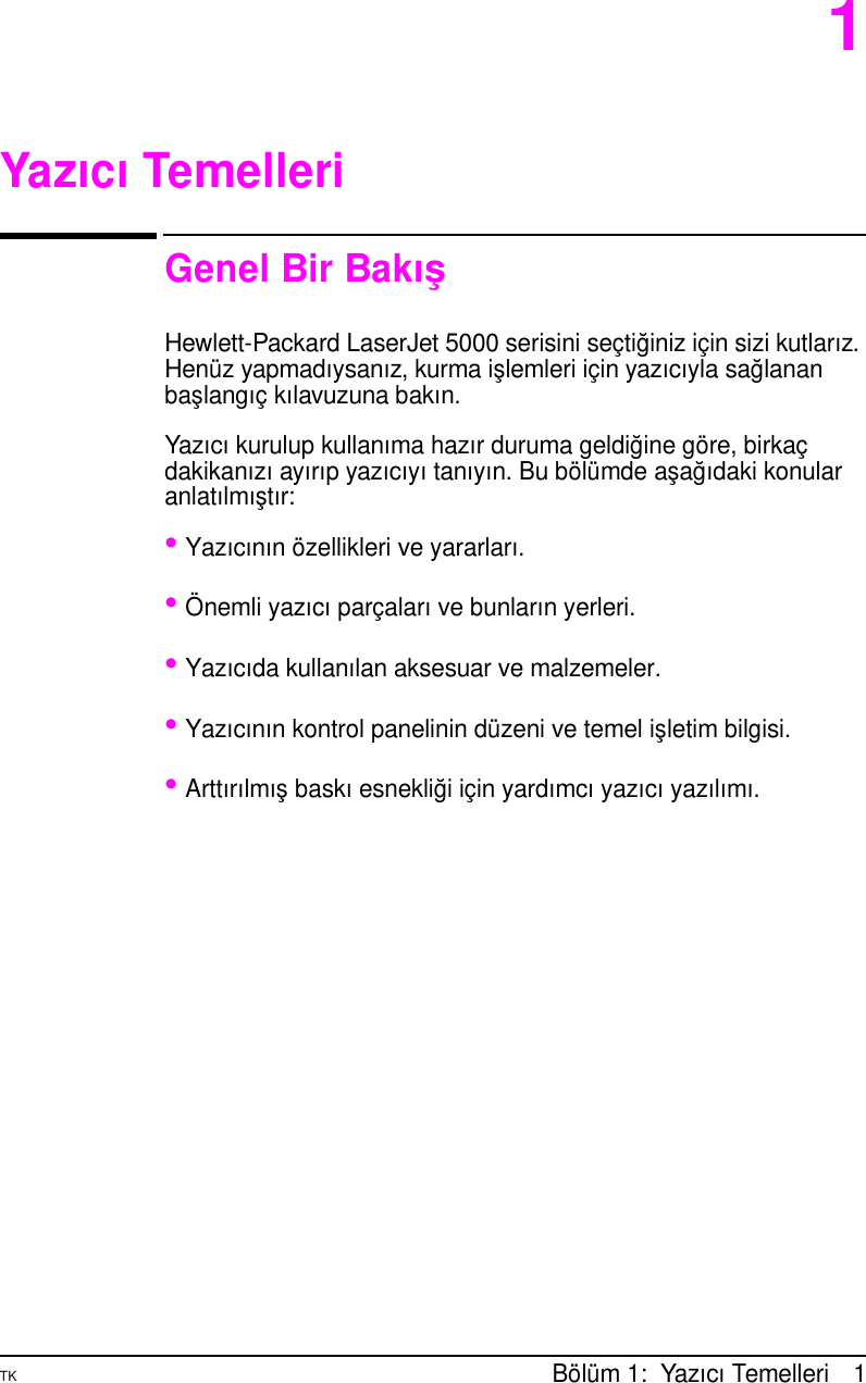 Hp Tuuseman Bk Laser Jet 5000 5000 N And Gn Printers Turkish