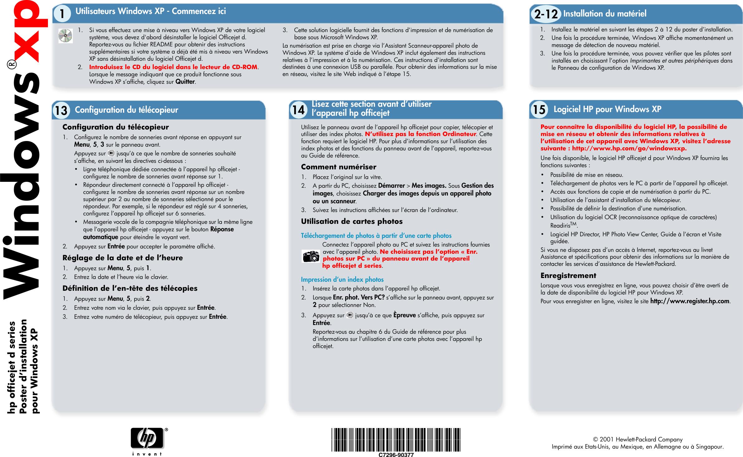 HP Gromit_XPFlyer_Oct31 Officejet D Series Windows XP
