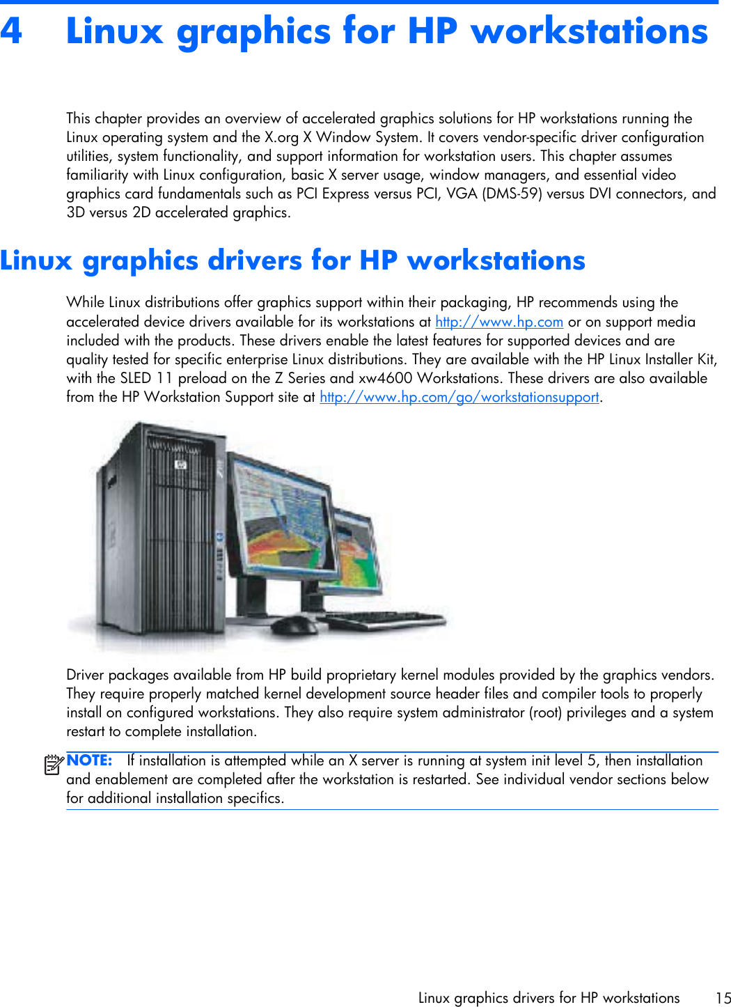 HP Workstations For Linux User Guide C00063015