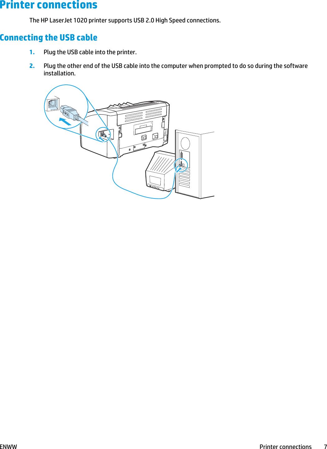 HP LaserJet 1020 User Guide ENWW Laser Jet C00264334