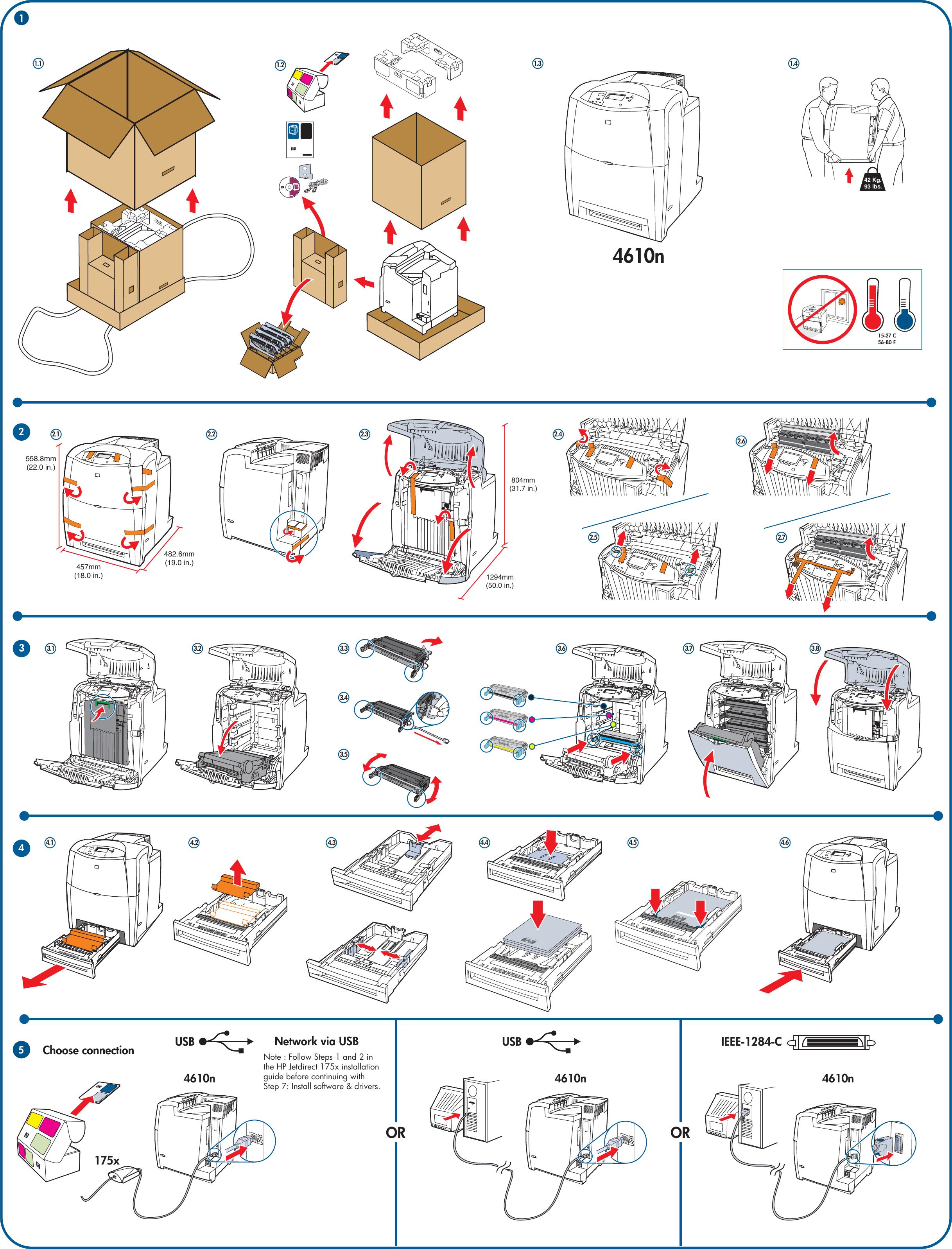 Page 2 of HP Color LaserJet 4610n Getting Started Guide - ENWW Laser Jet  C00288326