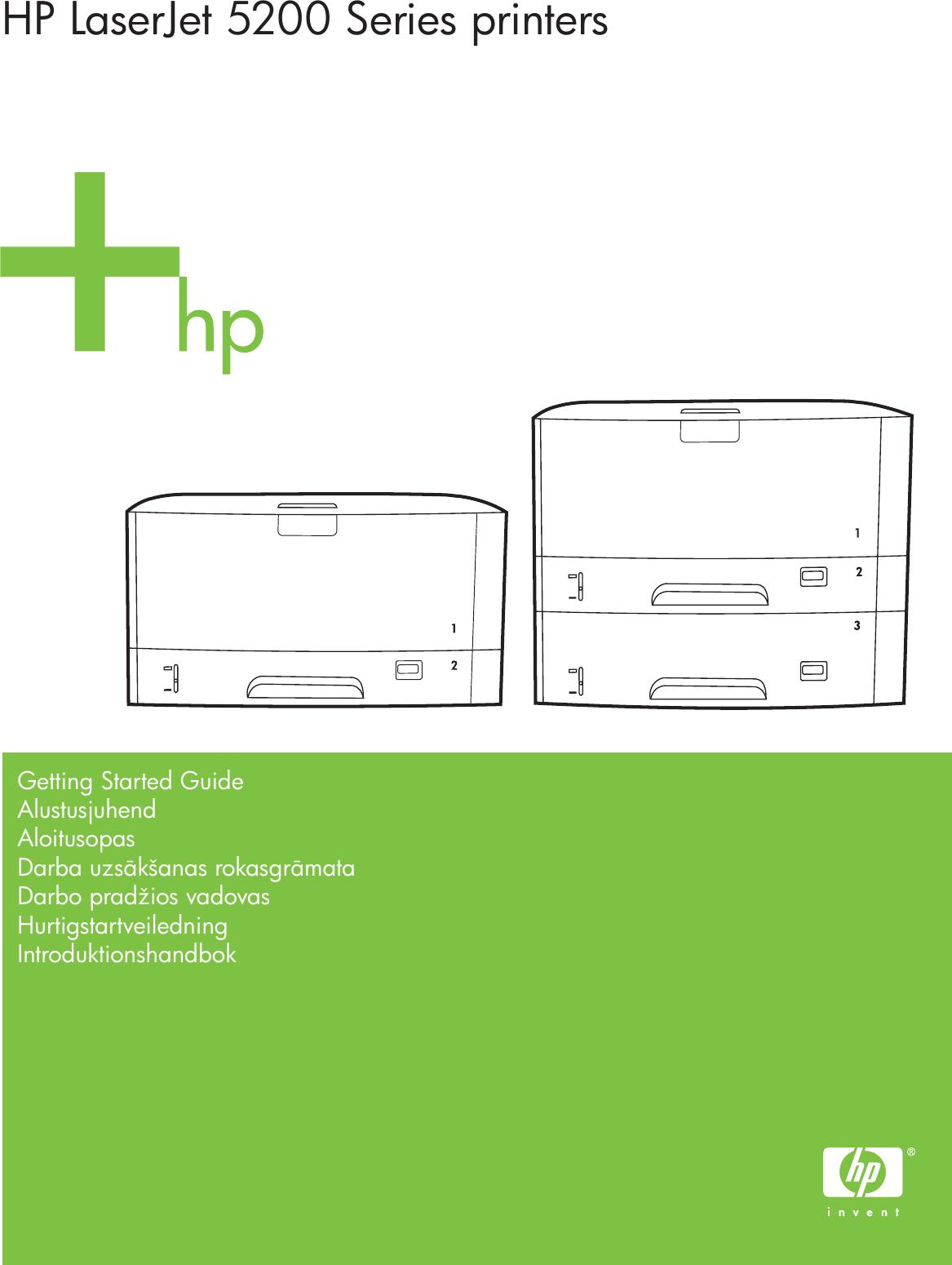 hp laserjet 5200 start xlww laser jet series printer getting started rh usermanual wiki hp laserjet 5200 printer manual HP 5200 Driver