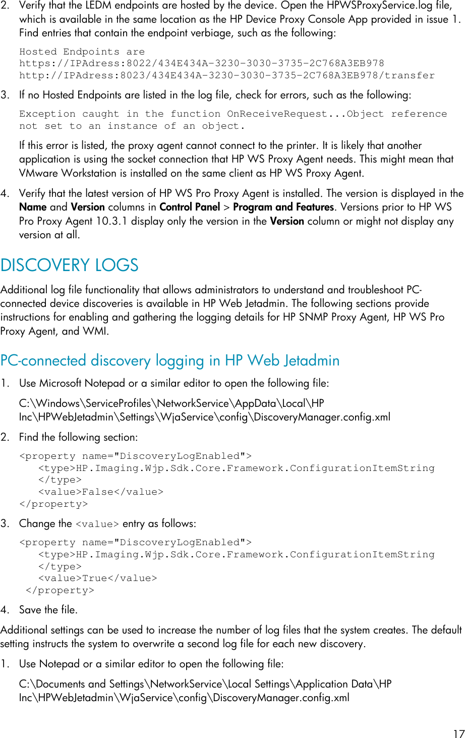 HP Discovering PC Connected Devices In Web Jetadmin ENWW