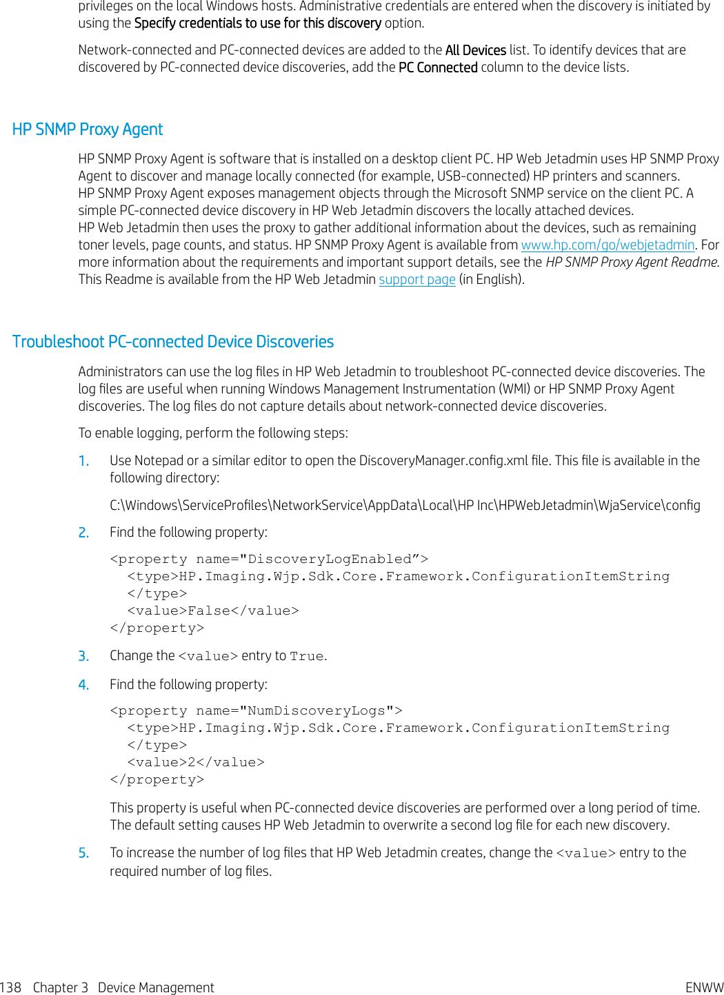 HP Web Jetadmin 10 4 User Guide ENWW C01840794