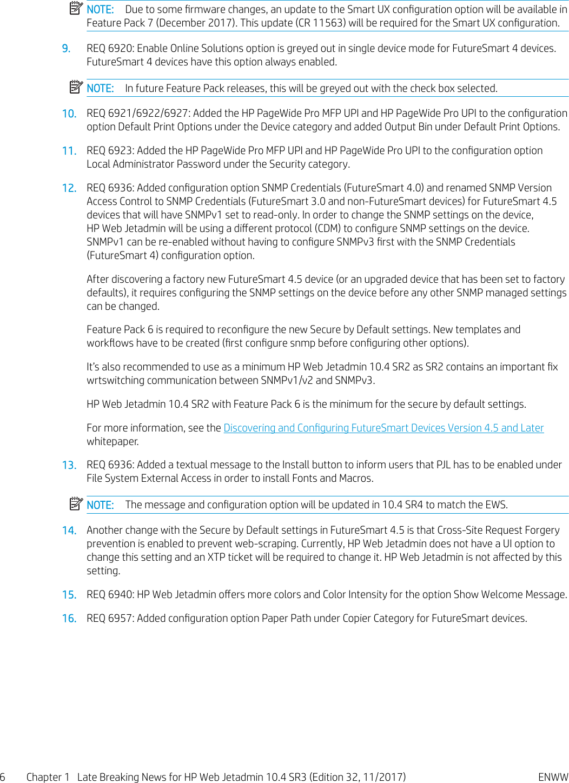HP Late Breaking News For Web Jetadmin 10 4 SR3 ENWW C01894187