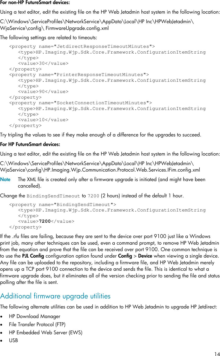 HP Upgrading Firmware Using Web Jetadmin ENWW C01943164