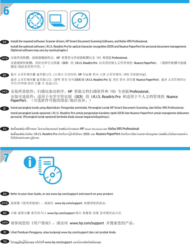 HP Scanjet Enterprise 7500/Flow 7500 Installation Guide XLWW C02542667