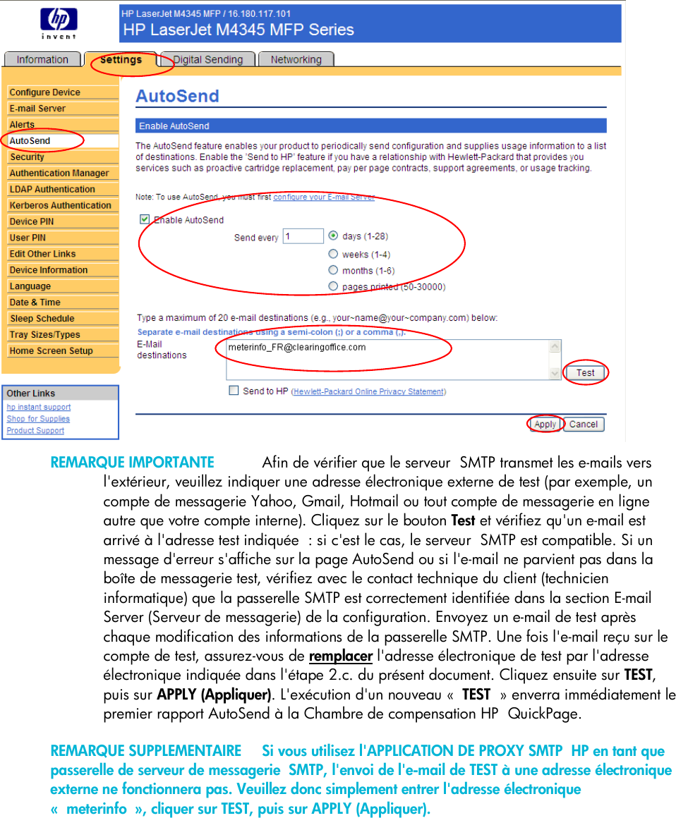 HP Quick Page Embedded Web Server (EWS) Configuration To Enable Auto