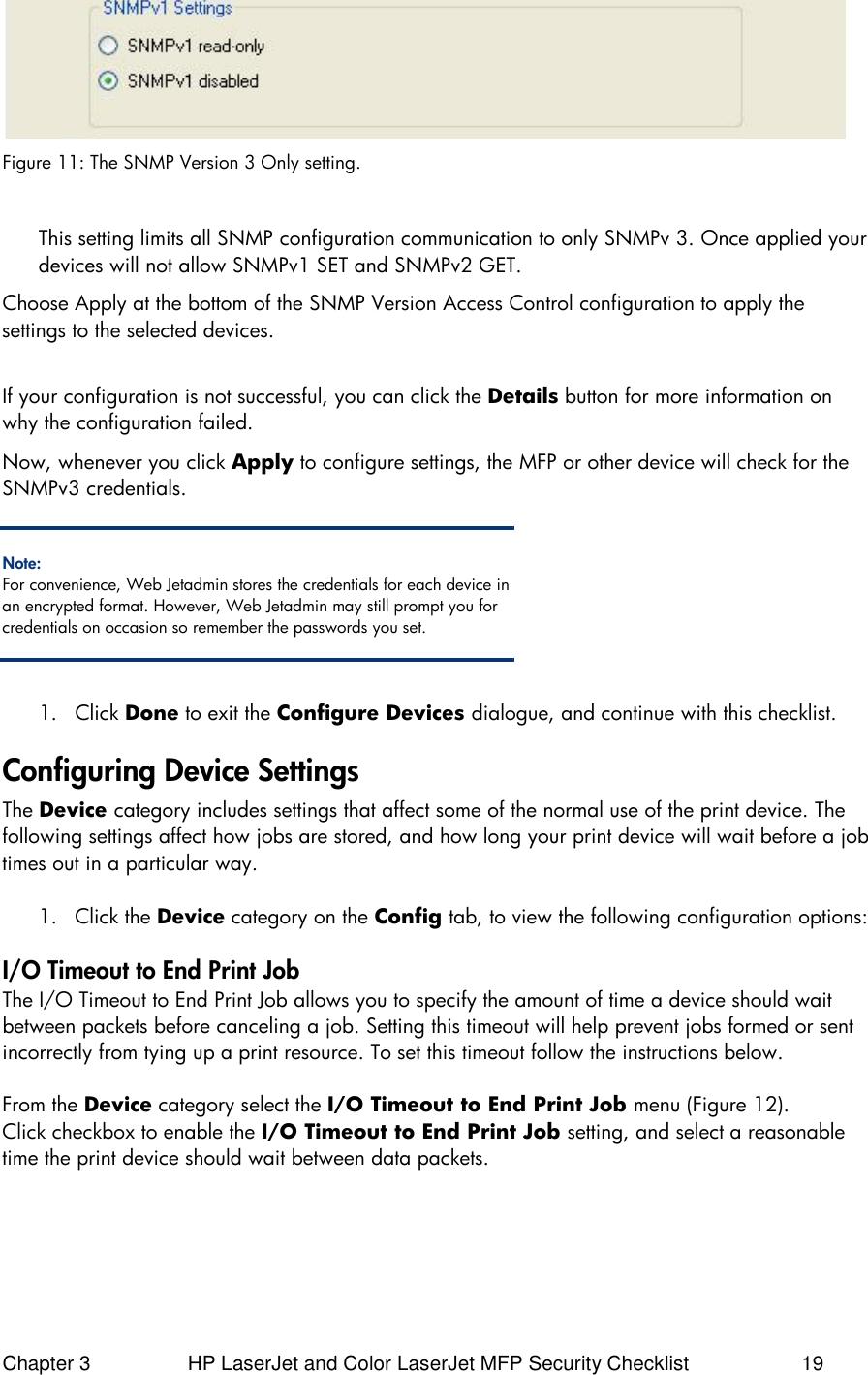HP LaserJet And Color MFP Security Checklist Enterprise Printers