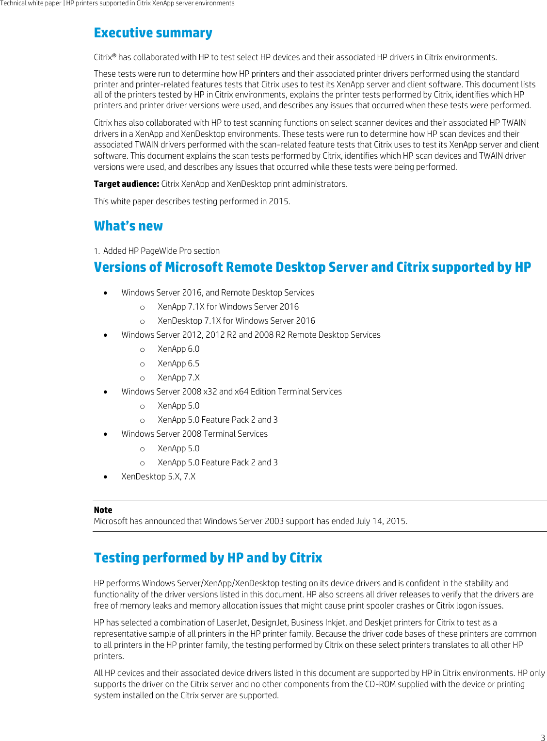 HP UPD Printers And Scanners Supported In Citrix Xen Desktop