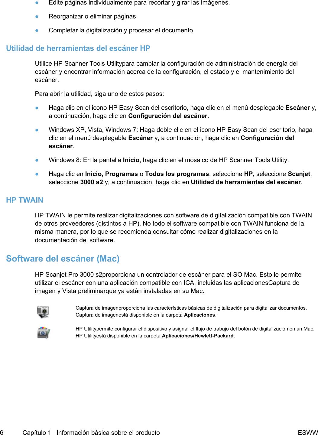 HP Scanjet Pro 3000 S2 Guía Del Usuario C03635762