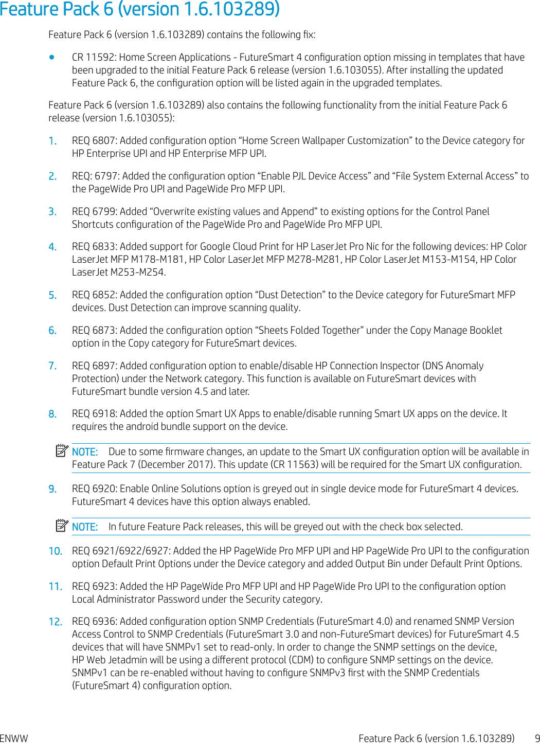 HP Web Jetadmin Feature Pack Readme – ENWW C04582271