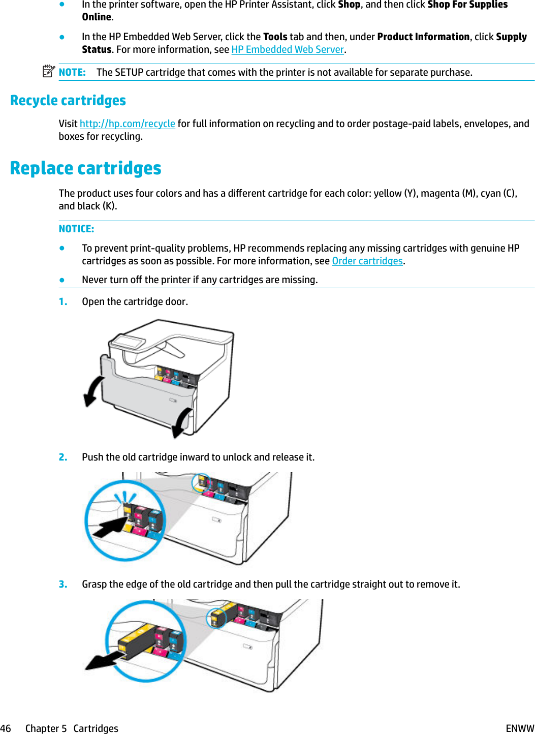 HP PageWide Pro 750 Series – ENWW Page Wide User Guide C05466230