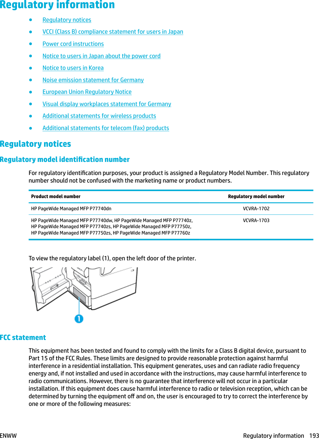 HP PageWide MFP P77740 60 Series – ENWW Page Wide User Guide C05466591