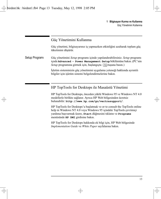HP C Vectra VE 6/xxx Series 8, User's Guide For Minitower S Lpv07286