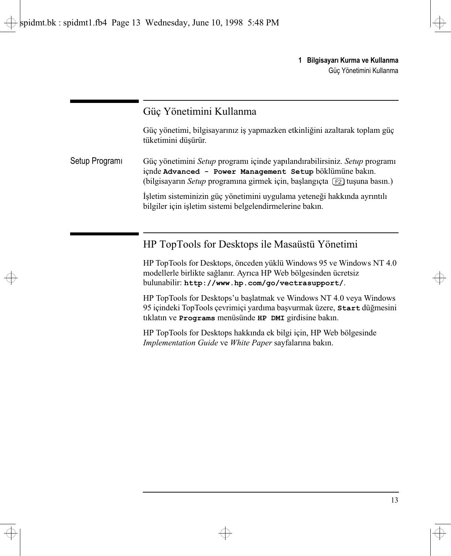 HP C Vectra VE C/xxx Series 7, User's Guide For Minitower S Lpv07406