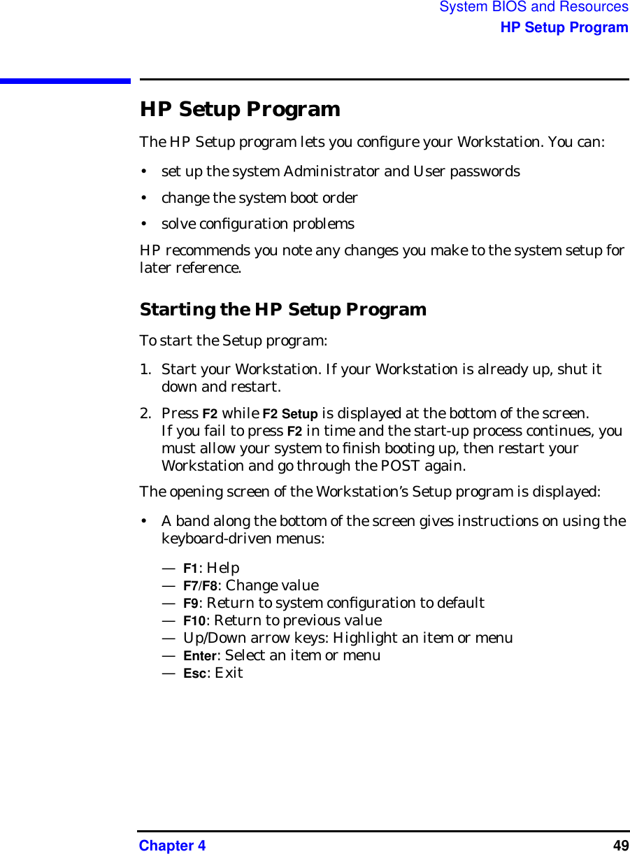HP Workstation X4000 Technical Reference Manual Windows And Linux