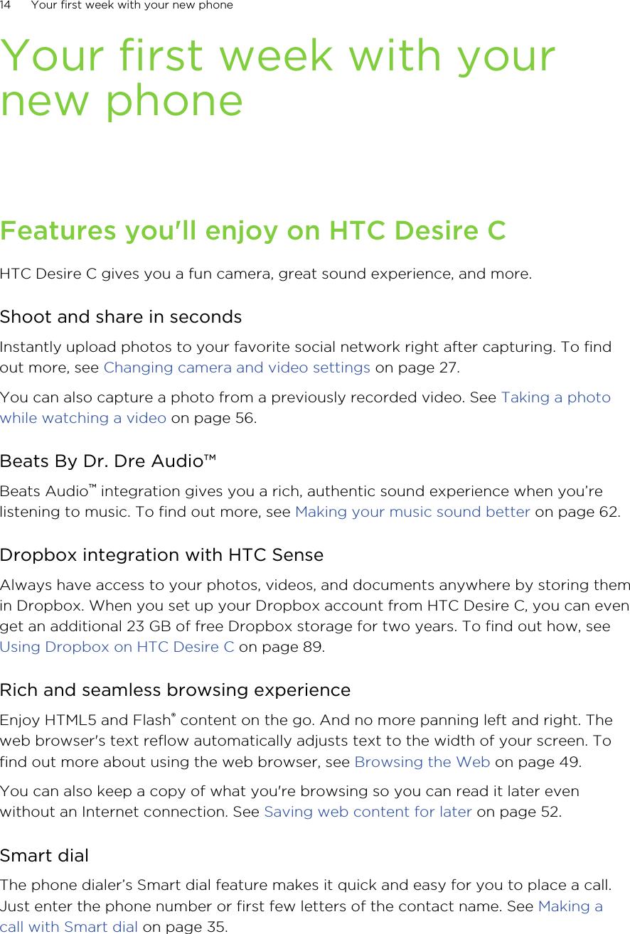 HTC PL01200 SMARTPHONE User Manual Your HTC Desire C