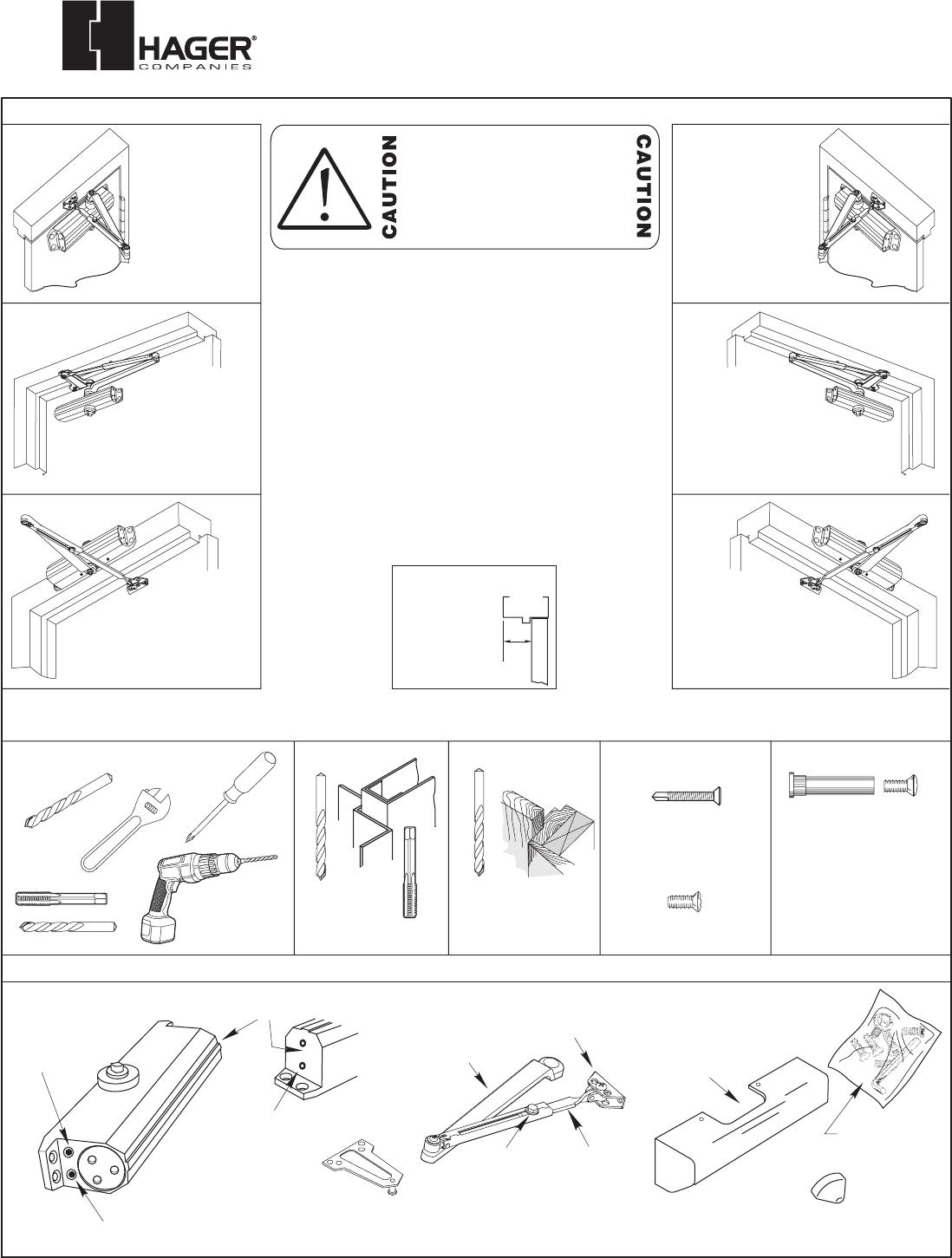 Hager 5300 P1 5 6 11 3 05 5300 Series Door Closer Installation Instructions Pg1 6 8 14 06 1