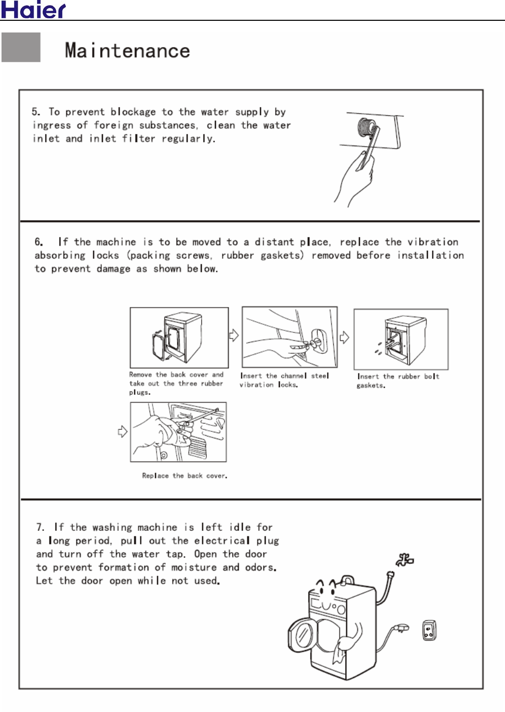 Haier Front Load Washing Machine Hw C1260tve Users Manual Wiring Diagram Modelhw C1260 1460tve Me U