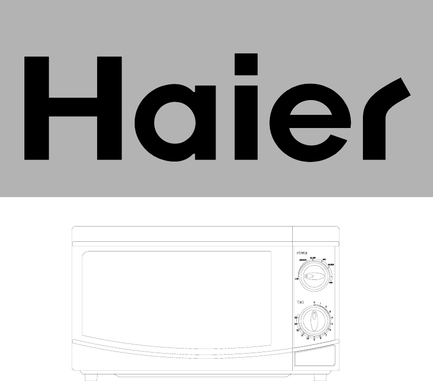 Haier Microwave Oven Hgn 2070M Users Manual 2070M说明书 on