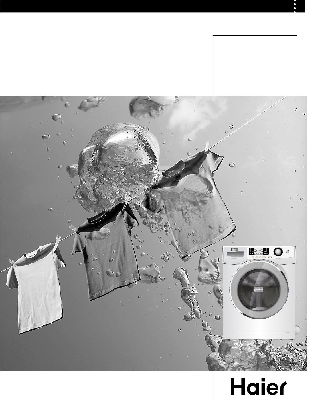 Haier Washer Hw70 B1286 F Users Manual