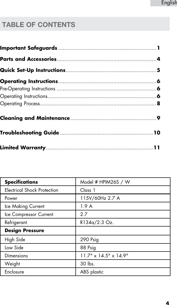 Haier Hpim26S Users Manual
