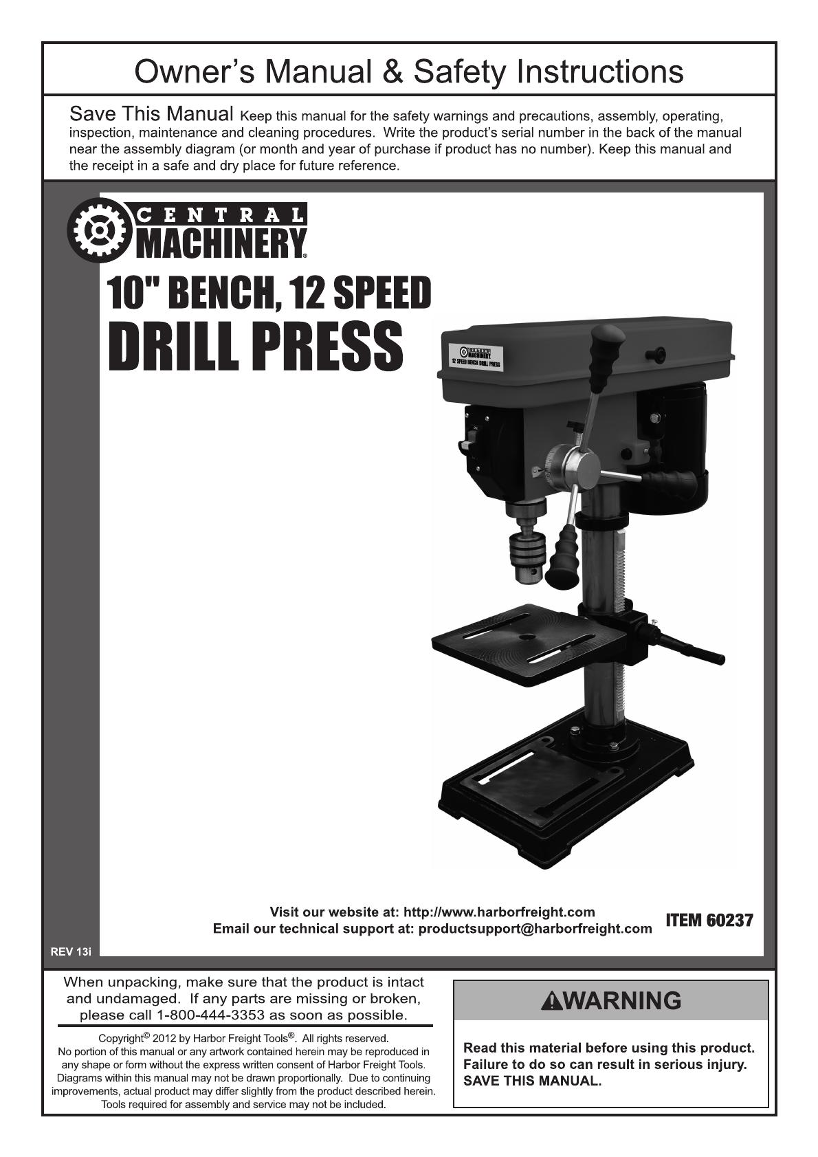 NEW DRIVE BELT SET FOR CENTRAL MACHINERY DRILL PRESS MODEL 60237 DRILL PRESS