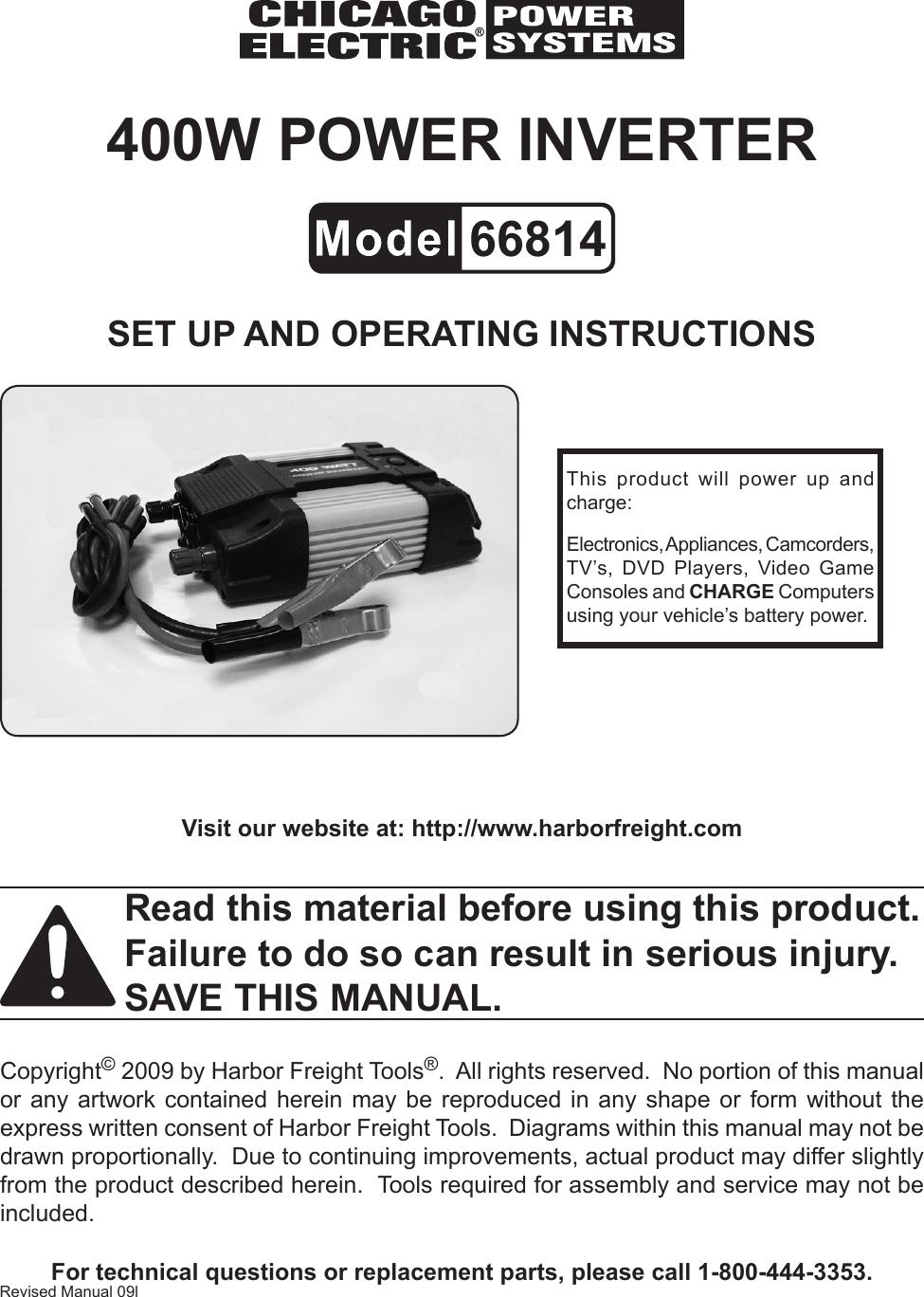 Sump Pump Power Inverter Manual Guide