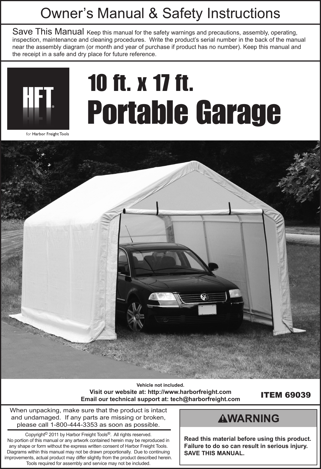 Cover Tech Portable Garage Instructions